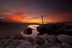 _DSC6969_EVENING GLOW_E8 (antelope reflection) Tags: sunset nikond90 antrlopeisland utah color beach reflection water lake greatsaltlake