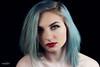 Marrissa-5796 (DEVSart) Tags: nikon d810 pretty beautiful model toronto blue woman lady redlips blackbackground sexy portrait homestudio