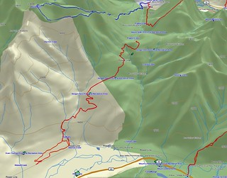 Skogan Pass Spring Cross-country Ski Outing - GPS track on 3D topo map