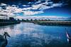 Ice and clouds (Maria Eklind) Tags: moln flag boat ribersborg malmö clouds water himmel sweden kanal outdoor västrahamnen streetsky city ice skånelän sverige se