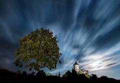 Fairy Tale Castle (Janos Puskas) Tags: somoskő longexposure tree clouds moon moonlight castle sky nightphotography castleofsomoskő night 650d 1855isii