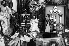 Arifact Sale 209 365 (ewitsoe) Tags: monochrome easter cathlic symbols wlodawa warsaw poland erikwitsoe ewitsoe canon eos6dii street urban people symolism blackandwhite bnw church tradition window display cross catholic holy god jesus christ diety divine salvation soul save savior