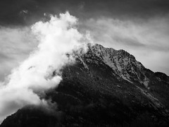 Allemont 02 (arsamie) Tags: allemont allemond france alps black white bw bnw mountain summit peak cloud wave elements wind water droplets vapor steam fog moist altitude climbing panorama savoie