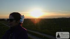 Ein Stück Aloha beim Sonnenuntergang,  Weinwanderung Vinocamp Rheinhessen 2018