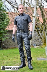 DSC_8906 (2) (LeatherMale) Tags: leather leatherpants leathergloves fullleather kristofleather cuir bocklederde