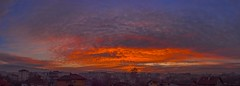 Sunset of contrasts (nickneykov) Tags: nikon d750 nikond750 sofia bulgaria colors colorfull clouds city sunset twilight red blue sky panorama