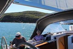 IMG_8937 (drayy) Tags: sail sailing boat yacht hanse hanse415 hawkesbury pittwater brokenbay water sydney nsw australia swim swimming