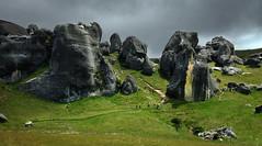 castle rock 13 (Bilderschreiber) Tags: castlerock arthurs passcastlerockarthurspassneuseelandnew zealandsüdinselsouth island rocks felsen fels stone stein green grün