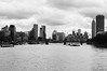From the clouded Skies (Thomas Listl) Tags: thomaslistl blackandwhite noiretblanc biancoenegro city london uk greatbritain landscape cityscape clouds sky river thames water bridge architecture skyscapers skyline atmosphere mood dark grey vsco