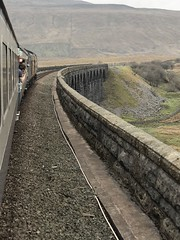 D407 and 50049 cross The Ribblehead Viaduct 14/4/18 (Flikrman Gaz) Tags: settleandcarlisle class50 sc ribbleheadviaduct