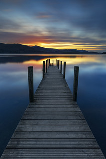 Stunning Sunset, Ashness Landing Pier, Derwentwater, Lake District