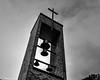 Dark Church Bells (that_damn_duck) Tags: bells nikon cross church blackwhite clouds bw blackandwhite