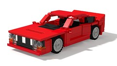 1982 Lancia 037 Stradale (Nivracer (Kevin Michaels)) Tags: lancia 037 8wide lego digital designer ldd render supercharged midengine i4 italy italian red stradale car coupe 1980s