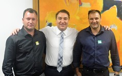 Audiência com o prefeito da cidade de Realeza (PR), Milton Andreolli, e o Presidente da Câmara, Ozeias de Oliveira