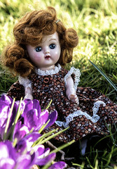 2018-03-03 An old-fashioned girl (Mary Wardell) Tags: doll dolls 1950s plastic vintage small spring canon 80d