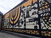 Menorah mural, Kazimierz (Bex.Walton) Tags: travel poland kraków krakow weekend longweekend citybreak art streetart mural murals menorah kazimierz