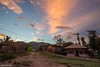 Over the Top - Sunset in a Jungle Mountain Village (0828) (Stefan Beckhusen) Tags: sunset sunrise dawn village mountain forest rainforest jungle tropic exotic buildings homes simplelife sky clouds paci manggarai flores indonesia lifestyle
