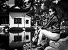 Chinese Gardens (mcook1517) Tags: woman blackandwhite monochrome china water reflection travel huntington pasadena california glasses landscape style