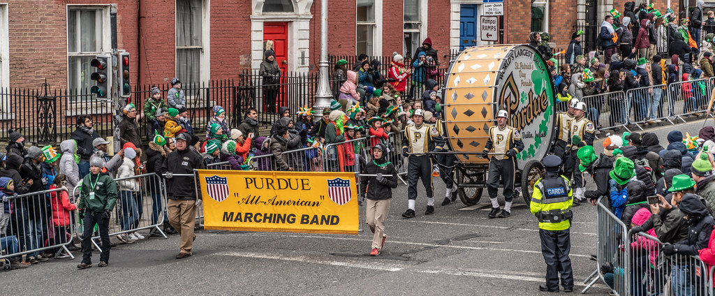 PURDUE ALL AMERICAN MARCHING BAND [DUBLIN PARADE 17 MARCH 2018]-137676