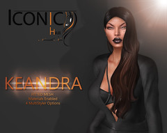 KEANDRA_banner (Neveah Niu /The ICONIC Owner) Tags: black fair secondlife short sl hair hairsl game event neveahniu multistyler meshhair multimedia 3dmesh blender zbrush iconichair iconic icon