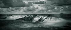 n&b ce matin (joboss83) Tags: mer sea rocher rock plage nb poselongue coucherdesoleil landscape nuage méditerranée beach fujifilm fuji xt1 l groupenuagesetciel