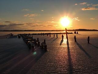 Sonnenaufgang über Strelasund