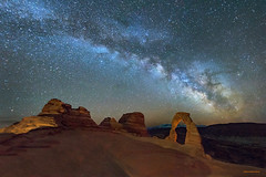 Our Delicate Galaxy (McKendrickPhotography.com) Tags: delicatearch milkywaygalaxy archesnationalpark moab utahnightscapes stars
