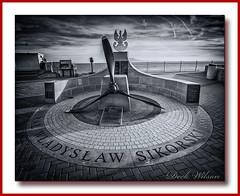 The Sikorski Memorial, (Deek Wilson) Tags: sikorskimemorial europapoint gibraltar memorial straitofgibraltar tribute mono black white bw generalsikorski polish poland