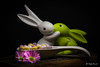 Easter (Magda Banach) Tags: canon canon80d sigma150mmf28apomacrodghsm blackbackground bunnies bunny bunnydeluxe candy colors easter goebel kiss spring sweets wood wooden