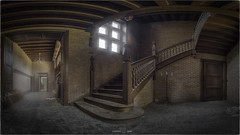 It retains a square tower housing a beautiful spiral staircase. (Yamabxl) Tags: abandoned abbandonato belgium château castle châteauwolfenstein creepy corridor couloir stairs staircase escaliers decay derelict dereliction forgotten forbidden ghost gloomy hdr highdynamicrange hidden lostplaces prohibed prohibé panorama urbex urbanexploration urbexhdr verfall verlassen verlaten