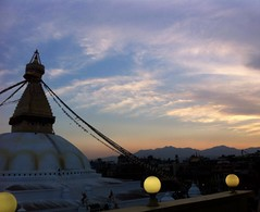 Baudhanath बौद्ध स्तुप (sandhya.sahi) Tags: baudha baudhanath stupa sunset sky skyline nature buddha kathmandu prayer flags evening stroll happynewyear newyeareve nepalinewyear2075 landscape breathtakingview breathtakinglandscape beginner photography dslr nikon nikond3300 mountains valley eyes
