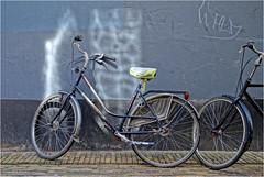 Not Loneley at All (Hindrik S) Tags: bike bicycle fyts fiets velo fahrrad streetphoto strjitfotografy wall muorre muur mauer light ljocht licht street straat strjitte strasse sonyphotographing sony saddle seal zadel graffiti a57 α57 slta57 tamron tamronaf16300mmf3563dillvcpzdmacrob016 2018