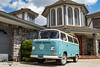 Weekender (Eric Arnold Photography) Tags: vw volkswagen buz van transporter camper westy westfalia blue white castle house california ca southern sky clouds
