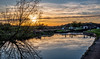 Cranes Lock (Peter Leigh50) Tags: canal grand union reflection sunshine sun sky skyscape lock gate towpath trees countryside rural leicestershire fujifilm fuji xt2