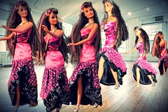 Showing off a few Dance Moves (marieschubert1) Tags: dance steps dancing moves talent music fashion dolls barbie studio floor long hair shiny sparkle glamour