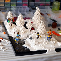 WIP Winter Landscape 4 (Emil Lidé) Tags: lego moc wip winter landscape frozen lake snow bush creek tree