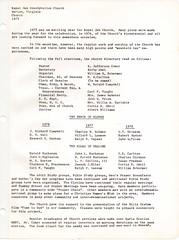 Royal Oak Presbyterian Church History 1975 Page 2 (mwlinford) Tags: royal oak presbyterian church marion virginia smythcounty