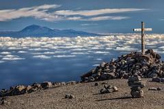 Peak View (galvanol) Tags: crater lapalma mood teide volcano clouds canaryislands blue hiking afternoon sky light atlanticocean island volcanism seaside