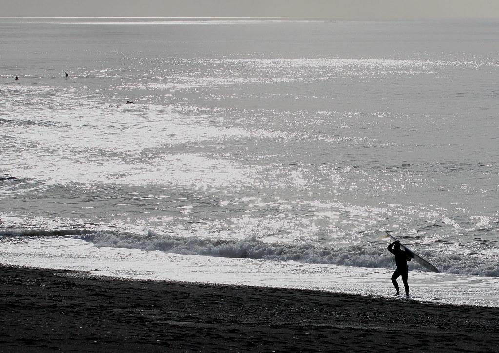 surfers, Aberystwyth, South Beach