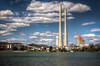 The Kingston Fossil Plant (commonly known as The Kingston Steam Plant) (donnieking1811) Tags: tennessee kingston thekingstonfossilplant thekingstonsteamplant outdoors energy towers twotowers nine towersriverskycloudsbluehdrcanon60dlightroomphotomatix pro