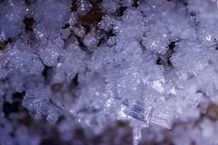 Underground Ice House (Kristaaaaa) Tags: cold dark flashlight frost frozen fujixt2 fujifilm highiso ice inuit inuvialuit north northern northwestterritories old permafrost tuktoyaktuk tunnel underground icicles