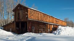 Columbine Barn - Routt County, Colorado (Christopher J May) Tags: routtcounty colorado co columbine steamboatsprings barn rustic wood winter snow thecabinsathistoriccolumbine nikond800 tamronsp2040mmf2735