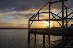 My Hometown (Clayton Perry Photoworks) Tags: vancouver bc canada winter explorebc explorecanada clouds richmond stevestonfishingvillage silhouette sunset