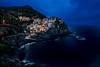 Manarola (antoniopérezsánchez) Tags: cinqueterre italia italy horaazul bluehour manarola mar montaña longexposure nikond5500