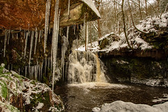 Goit Stock falls (Andrew-Jackson) Tags: waterfall winter cold yorkshire river landscape ice forest wood