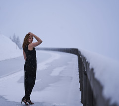 Julia März 2018 (Roman Hauthaler) Tags: snow redhead beautifulgirl sony girl beauty snowfall snowflakes austria rossfeldstrasse portrait people sonya7r3 sony70200 70200 naturallight sky cold blackdress shoes picture pic pictureoftheday curls white mountain germany nicepic potd niceview girlinsnow
