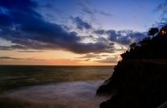 Tramonto sulle Cinque Terre (giannipiras555) Tags: mare panorama landscape tramonto sunset manarola cinqueterre nuvole sole scogli liguria natura
