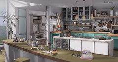 Life is tough, but so are you (Trixie Lanley) Tags: mudhoney pocketgacha trompeloeil kitchen whatnext groupgift secondlife homedecor illuminate convair house home basil baking applefall fameshed breakfast