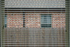 Suburban house lines (Monceau) Tags: athome lines horizontal vertical bricks window fence blinds suburban house utata:project=lines abstract