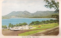 SLU01 (By Air, Land and Sea) Tags: airport postcard saintlucia westindies slu vigieairport aircraft airplane airline terminal castries